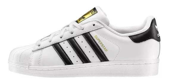Tenis adidas Superstar Blancos Con Rayas Negras Originals
