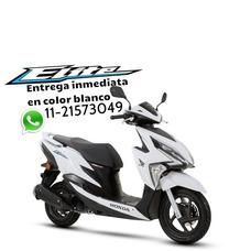 Nueva New Elite 125 Blanco Honda 0km Scooter 2018