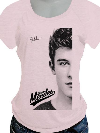 Camiseta Babylook Shawn Mendes Opcoes De Costas Blusa720