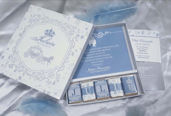 Invitaciones 15 Años Cajas Chocolates Personalizados
