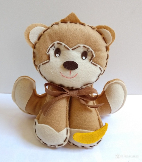 Macaco Macaquinho De Feltro Para Decoração -20 Cm