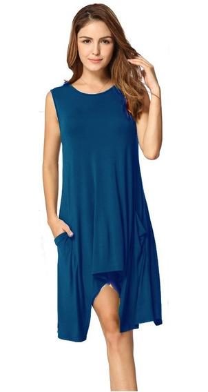 Fresco Y Comodo Vestido Corto Linea A Para Mujer Dama 5134