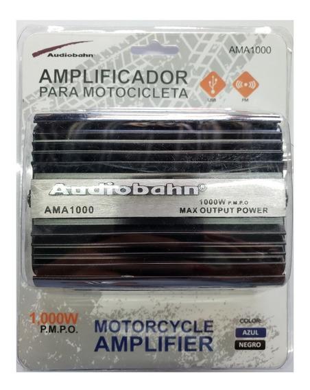 Mini Amplificador Moto Usb Sd Fm Mp3 Remoto Audiobahn 1000w