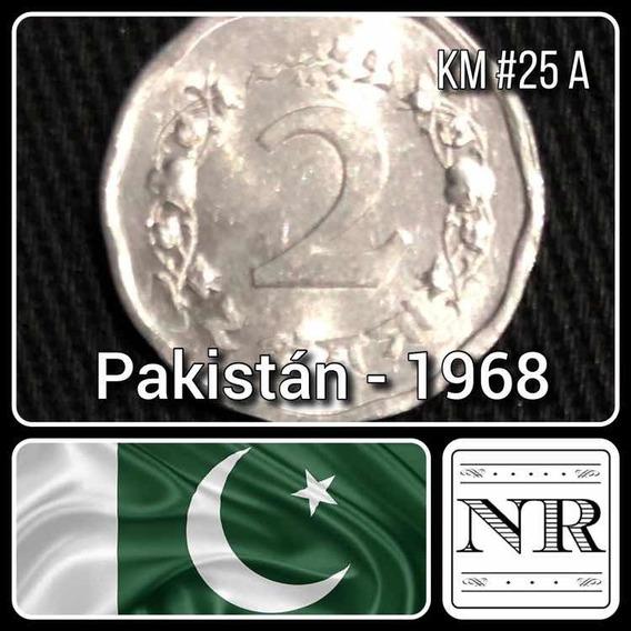 Pakistan - 2 Paisa - Año 1968 - Corona De Ramas - Km #25a