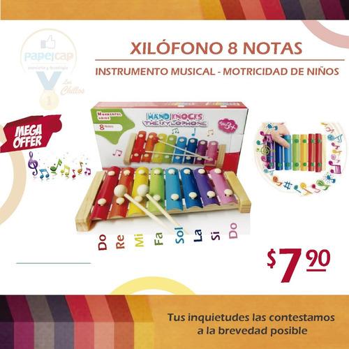 Xilofono 8 Notas Instrumento Musical Motricidad Destreza