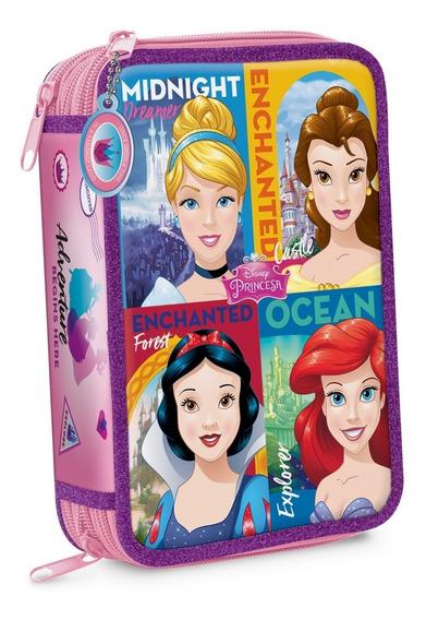 Cartuchera 3 Pisos Disney Princesas Palace Pets Mundo Manias