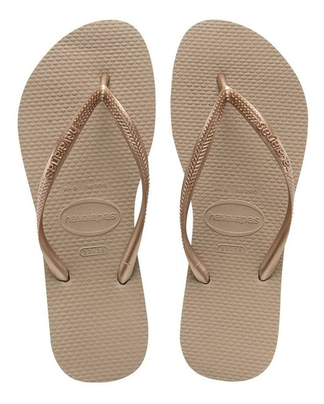 Chinelo Havaianas Slim Rose Gold
