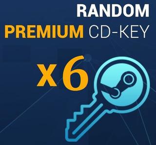 6 Random Keys Steam 6 Llaves Aleatoria Para Steam + 1 Gratis
