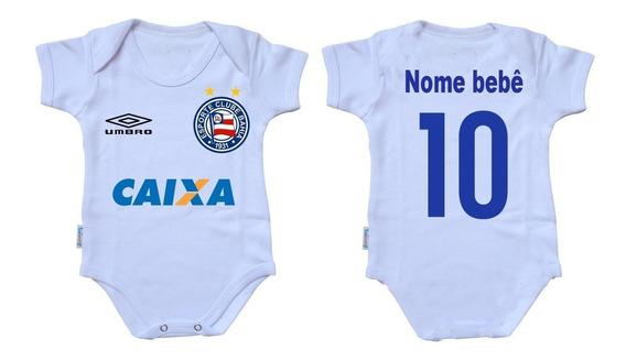 Bodie Body Infantil Roupa Bebê Nene Time Futebol Bahia