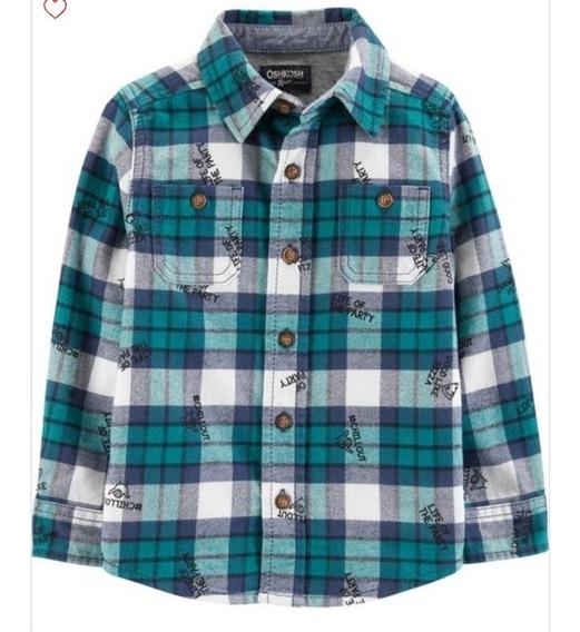 Camisa Franela Nene Osh Kosh Talle 5 Manga Larga