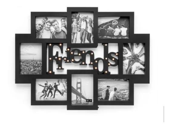 Painel De Fotos Com Luz Led Friends - Quadro De Fotos