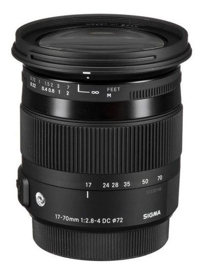 Lente Sigma 17-70mm F/2.8-4 Dc Macro Os Hsm (para Nikon)