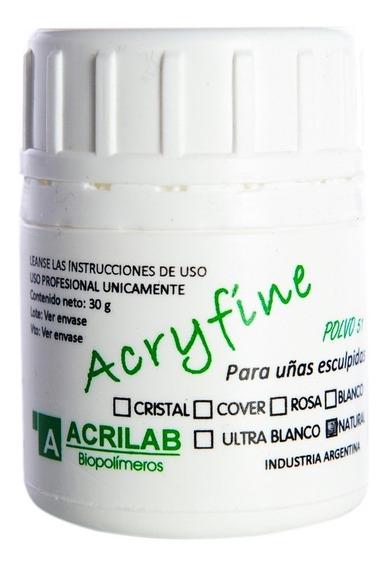 Acryfine Polímero Construcción Uñas Esculpidas Natural 30gr