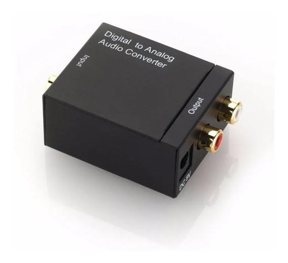 Conversor Áudio Digital Cabo Óptico Coaxial P/ Rca Analógico