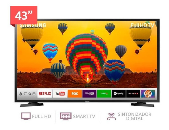 Pantalla 43 Samsung Un43j5290 Smart Full Hd