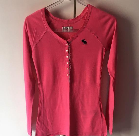Camiseta Abercrombie Feminina Rosa Usada L