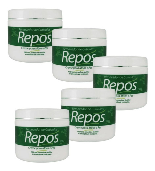 Cremes Hidratante Removedor De Cutículas Repos 500gr 5 Unid