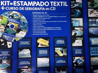 Kit De Estampado Textil Y Curso De Serigrafia En Dvd