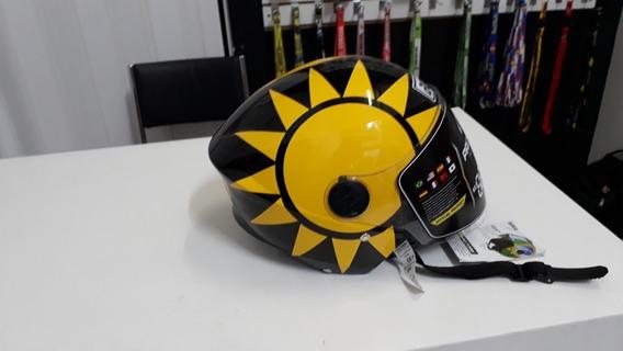 Capacete Personalizado Agv Sol E Lua (viseira Simples)
