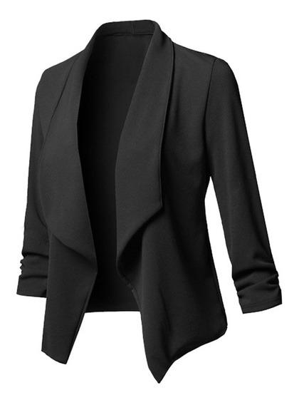 Mujer Sólido Blazers Cardigan Abrigo Manga Larga Frente Abie