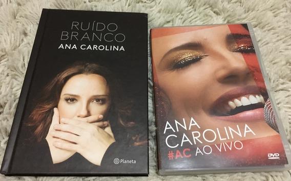 Livro Ana Carolina Ruído Branco + Dvd #ac Ao Vivo Originais