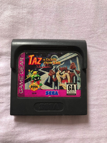 Taz In Escape From Mars Game Gear Original Usa