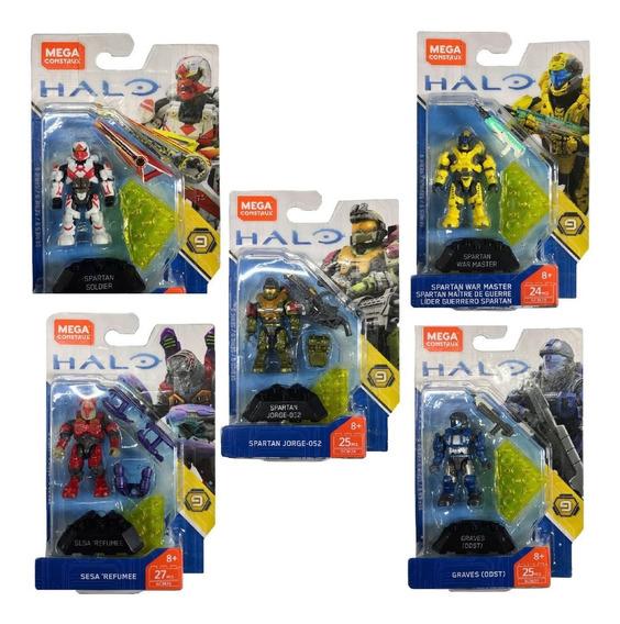 Halo Mega Construx Heroes 5 Figuras Serie 9 Articulados