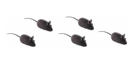 Brinquedo Pet Gatos - Ratinho De Borracha ( 12 Unidades )