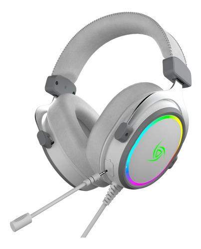 Imagen 1 de 9 de Auriculares Gamer Vsg Singularity Blanco Usb Rgb Pc Streamer