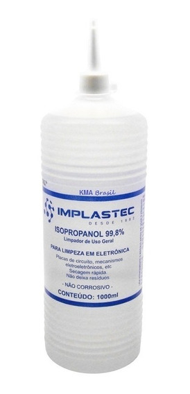 Álcool Isopropílico 1 Litro Implastec Com Bico (isopropanol)