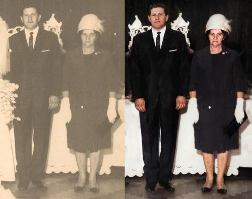 Restauração De Fotos/ Coloração De Fotos/ Montagem De Fotos