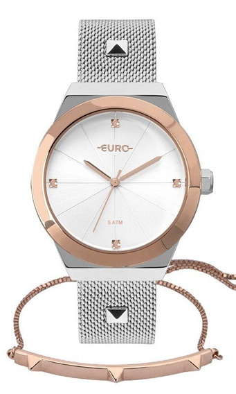 Relogio Feminino Euro Misto Elegante Eu2035yrik5k