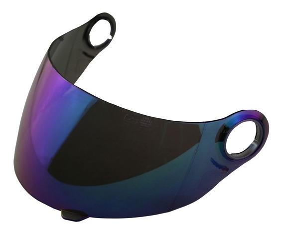 Viseira Capacete Shark S500 Blu Iridium Original