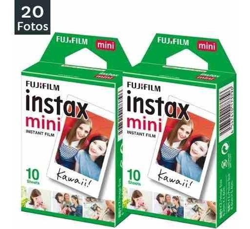 Filme Fujifilm Instax Mini Todas Câmeras Instantânea C/ 20