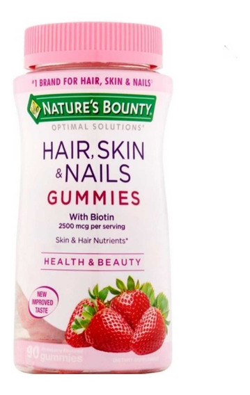 Vitaminas Gomitas Con Bioting Para Cabello Piel Uñas 230uni