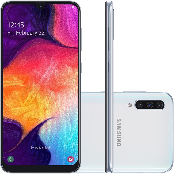 Smartphone Samsung Galaxy A50 6.4 , Octa-core, 64gb, 25mp, Branco - Sm-a505gz