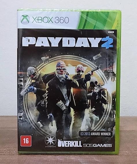 Jogo Pay Day 2 Xbox 360 Payday 2 Física Original Lacrado