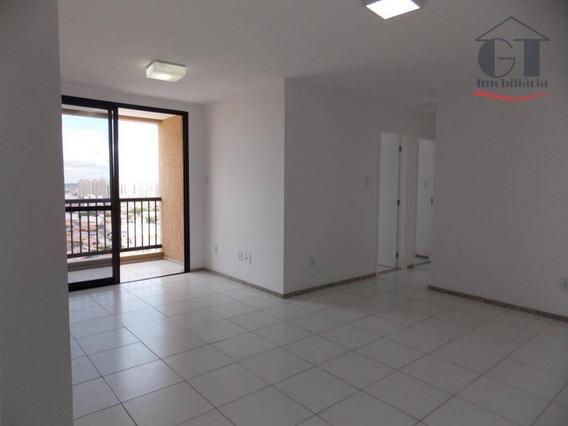 Apartamento Com 3 Dormitórios Para Alugar, 75 M² Por R$ 1.200/mês - Elevatto Condomínio Clube Luzia - Aracaju/se - Ap0494