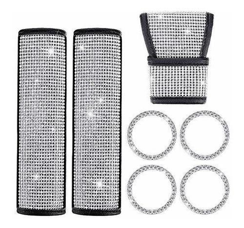 Accesorios De Cristal De Coche De Diamante, Incluyen Bling C
