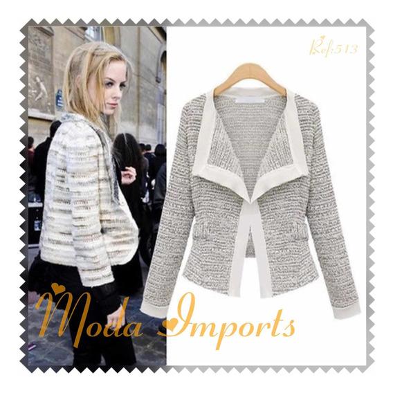 Blazer Em Lã Olgitum Fashion Moda Inverno Importado