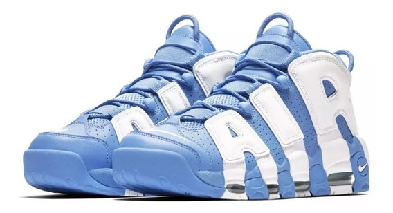 Zapatillas Nike Air More Uptempo Azul Blanco - Imponentes