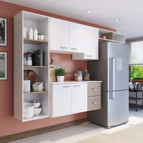 Imagem 1 de 4 de Amário De Cozinha Compacta 4 Peças 5 Portas Anabela Fa