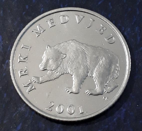 Moneda Croacia 5 Kuna 2001. Oso !!!!