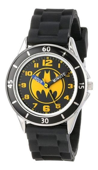 Reloj Analógico Dc Comics Batman Carcasa Plateada