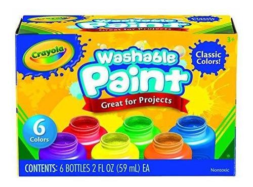Pintura Para Niños Lavable Crayola (6 Cuentas)