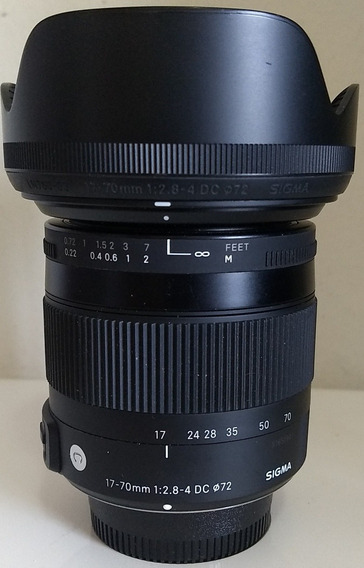 Lente Sigma 17-70mm F/2.8-4 Dc Os Macro Novíssima P/ Nikon