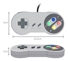 Controle Usb Super Nintendo Joystick Pc Notebook Game Snes