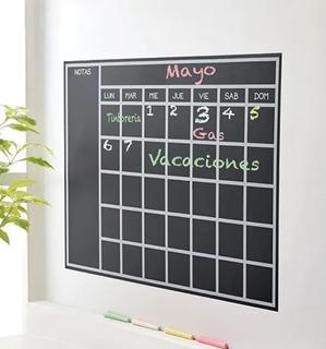 Calendario Pizarrón Adhesivo Betterware