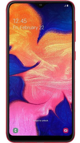 Imagem 1 de 4 de Usado: Samsung Galaxy A10 32gb Vermelho Muito Bom