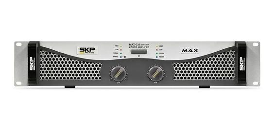 Amplificador De Potência Skp Pro Audio Max-320 300w Novo